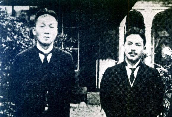 1925년경 동경에서 송진우(왼쪽)와 김성수